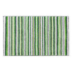 """Grund - Grund Premium Bathroom Comfort Mats-Stripes Series, Green, Medium - Time-honored and spunky!  The Stripes Series is a classic with a twist using colorful combinations and peppy stripes sure to send you straight into a fabulous day!  Machine tufted.  Comes in two colors and is available in three sizes:  21"""" X 24"""" small, 24"""" X 36"""" medium, 24"""" X 60"""" large."""