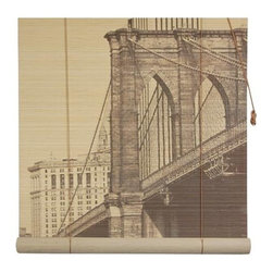 Oriental Unlimted - Brooklyn Bridge Bamboo Blinds (48 in.) - Choose Size: 48 in.These attractive roll up blinds feature a Brooklyn Bridge art design on a stylish bamboo construction. Come ready to hang and feature an easy to operate design. Feature a lovely view of New York's Brooklyn Bridge. Easy to hang and operate. 24 in. W x 72 in. H. 36 in. W x 72 in. H. 48 in. W x 72 in. H. 60 in. W x 72 in. H. 72 in. W x 72 in. H