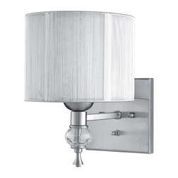 World Imports - Bayonne 1-Light Wall Sconce with Silver Shade, Brushed Nickel - Modern, warm design