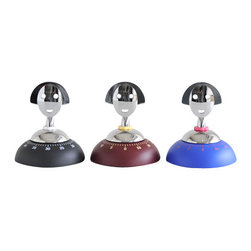 """Alessi - Alessi """"Anna Time"""" Kitchen Timer, Blue - This is a kitchen timer made of thermoplastic resin and chrome-plated zamak."""