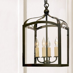 Gothic Lantern - This lantern is a great example for those looking to add a hint of rustic charm to their home without too much rust or ornament.