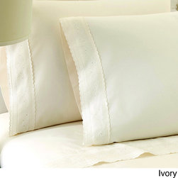 None - Sylvia Embroidered 100-percent Egyptian Cotton 250 Thread Count Sheet Set - Convert your bed into a luxurious oasis with this Sylvia embroidered Egyptian-cotton sheet set. The high thread count keeps you warm and cozy,and the plain weave ensures years of durability.