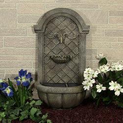 Outdoor Classics - Outdoor Classics Verona Solar Outdoor Wall Fountain -