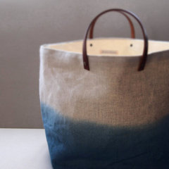 accessories and decor Organic Blue Dip-Dye Bag