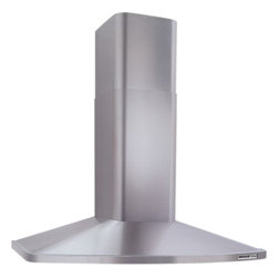 """Broan - Rangemaster RM524204 42"""" Wall Mount Chimney Hood with 370 CFM Internal Blower  M - The Broan Rangemaster RM524204 42 Wall Mounted Chimney Style Hood with Ductless Option combines graceful curves and traditional European styling The 52000 Series is engineered to meet the requirements of todays highly styled conventional appliances a..."""