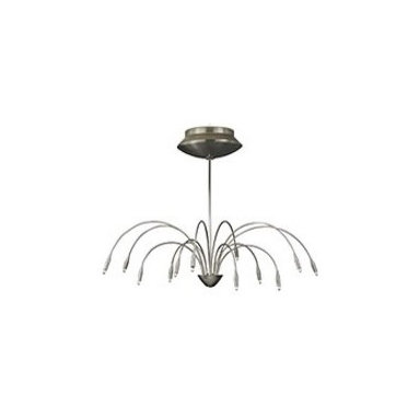 PRESTO 20 Chandelier - At once resembling an octopus and a flower, this industrial light is slender, cruvy and eye-catching.