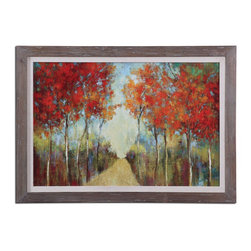 "Uttermost - Reclaimed Wood Nature 41.625""W X 29.625""H Impressionist Painting - Reclaimed Wood Nature 41.625""W X 29.625""H Impressionist Painting"