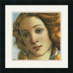 "Amanti Art - ""The Birth of Venus"" Framed Print by Sandro Botticelli - You've gotta love Botticelli's Venus! This print brings a portrait perspective of the renowned masterpiece to your decor, casting a vibe of beauty and enchantment as only a true goddess can."