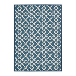 """Waverly - Waverly Wav16 Treasures WTR01 2'6"""" x 4' Bluejay Area Rug 23497 - This boldly graphic Artistic Twist area rug by Waverly for Nourison brings a spontaneous burst of sophisticated energy to any area it inhabits. A fabulous twisted yarn texture and unforgettable two-tone color palette of crisp white and deep marine blue only add to the appeal."""