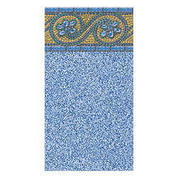 Blue Wave - Blue Wave Oval Rolling Rock Unibd 54 Inch - 18 ft x 33 ft - Features: