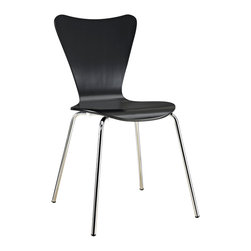 LexMod - Arne Jacobsen Style Series 7 Side Chair - Minimalist in nature though it may be, this seat doesn't skimp on comfort. Its seemingly rigid design, flexes to the contours of the human body, making it a great side chair for homes and businesses alike.