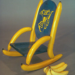 Pieces From The Past - Bananna Rocker maple , lacquer 1989 Steve Casey