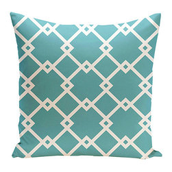E by Design - Bahama Square Geometric Throw Pillow - Instantly refresh an older couch or chair and personalize your home with this modern, US-made throw pillow. �� Polyester Spot clean Made in the USA