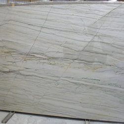 White Macubus - This is a small glimpse into our stone inventory that you could find while visiting our showroom. Check out our website to see many more!