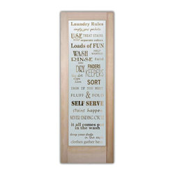 Sans Soucie Art Glass - Laundry Rules Glass Laundry Room Door - Laundry Room Door with Sandblast Etched Glass - Laundry Rules Glass - Quality, hand-crafted sandblast etched glass.