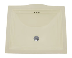 """TCS Home Supplies - Rectangular Biscuit Porcelain Ceramic Vanity Undermount Bathroom Vessel Sink - Undermount Bathroom Vessel Sink. Rectangular Shape. Available in White or Biscuit Finish. Porcelain Ceramic. Overall Dimensions 20-3/4"""" x 17-1/4"""" x 5-1/4""""."""