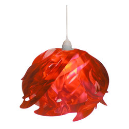 October Design Co. - Ali Pendant Lamp, Red - Quirk up your space with our gorgeous Ali Pendant Lamp in red. This contemporary hanging pendant lamp creates a distinct, ethereal glow in any room. Ideal for home décor, business décor (boutique or restaurant) or as a decoration for a wedding or other special event (note: do not expose to rain).  Makes a lovely gift, too!