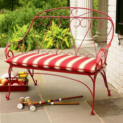 Amherst Wire Bench - This one only looks vintage! Lots of scrolls and a protective finish make for a more modern look.