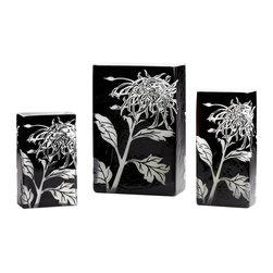 Cyan Design - Cyan Design Large Wild Dandelion Vase in Black and White - Large Wild Dandelion Vase in Black and White