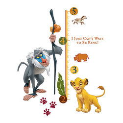York Wallcoverings - Lion King Growth Chart Large Simba Wall Accent Sticker Set - FEATURES: