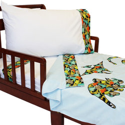 Store51 LLC - Dinosaurs Toddler Bedding Set Dino Trio Blanket Sheets - FEATURES: