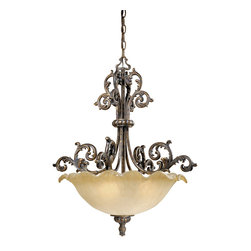 Vaxcel - Monte Carlo Aged Bronze Pendant - Vaxcel MT-PDU250AR Monte Carlo Aged Bronze Pendant