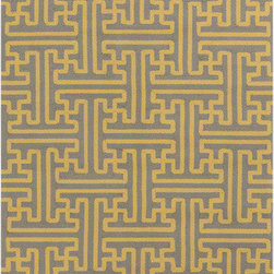 Surya - Surya Rain RAI-1189 (Gold, Grey) 3' x 5' Rug - Rain or shine, these rugs look great outdoors! These hand hooked all weather rugs are manufactured to withstand the rigors of outdoor use. You don't need to worry about ruining your rug by spilling a drink or dropping food, just hose off and it's clean! The colors and designs we specially created to add to the outdoor ambiance.
