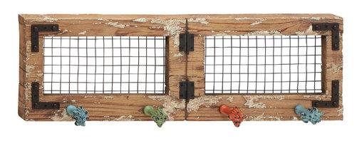 Rustic and Classic Wood Metal Wall Hook - Description: