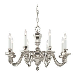 Metropolitan - Metropolitan N1115-613 8 Light 1 Tier Candle Style Chandelier in Polished Nickel - Eight Light Single Tier Candle Style Chandelier in Polished Nickel from the Casoria CollectionFeatures: