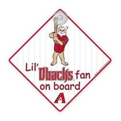 "Mlb - Team ProMark Lil' Fan On Board SigNinarizona Diamondbacks - Let the little ones in your family ""show off"" their team pride around town with the Lil' Fan-On-Board Sign. It features their favorite MLB team logo and measures 4 3/4"" x 4 3/4"" with a suction cup attachment for the window."