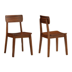Boraam - Boraam Zebra Hagen Chairs [Set of 2] - Hagen Chairs in the Zebra Collection by Boraam Boraam proudly introduces the Hagen chairs from their new Zebra series. The straight edges and contemporary style set it apart from any other chair in its class. Sophisticate the interior of your home by adding a set of these fashion-forward chairs to your kitchen area or workspace. The Hagen chairs, built with solid hardwood and exotic Zebrano wood veneer, make them a durable and secure piece of furniture. Designed with a close attention to detail, the curved backrest and generously sized seat provide a maximum level of comfort for all who sit. The rich walnut finish complements the Zebrano wood veneer and the result is artistically sublime. Complete the look with the Hagen dining table.