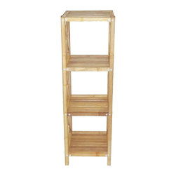 "Bamboo54 - Bamboo 4-Tier Bath Shelf - Classical design bamboo 4 tier bath shelf is not only limited to use in the bathroom, it can be used practically anywhere in your home. Beautiful and eco friendly, some assembly is required but it is pretty simple. Measures 46"" H x 14.5"" W x 13"" D"