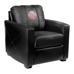 Dreamseat Inc. - Maltese Cross Xcalibur Leather Arm Chair - Check out this incredible Arm Chair. It's the ultimate in modern styled home leather furniture, and it's one of the coolest things we've ever seen. This is unbelievably comfortable - once you're in it, you won't want to get up. Features a zip-in-zip-out logo panel embroidered with 70,000 stitches. Converts from a solid color to custom-logo furniture in seconds - perfect for a shared or multi-purpose room. Root for several teams? Simply swap the panels out when the seasons change. This is a true statement piece that is perfect for your Man Cave, Game Room, basement or garage.