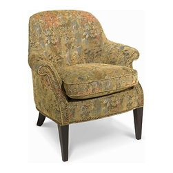 Marche Living Room Chair - Looking for a great chair for your bedroom or home office?  The Marche chair is the perfect size to tuck into the corner of a bedroom or office.  Its soft pattern and beautiful nailhead accents are the icing on the cake.
