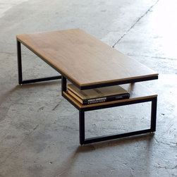 Gus Modern Ossington Coffee Table Coffee Tables - Finally!  A table for those of us that like cleared-off coffee table but also want our remotes and current glossies close at hand! It helps the modernist find a place to stash that part of him that's a little bit of a clutterbug.
