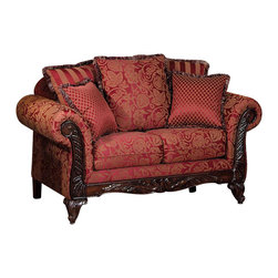 Chelsea Home Furniture - Chelsea Home Serta Tia Loveseat in Momuntum Magenta - Tia loveseat in Momuntum Magenta belongs to Serta collection by Chelsea Home Furniture