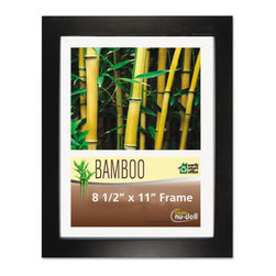NuDell - NuDell Bamboo Frame, 8 1/2 x 11, Black - Strong, quality-constructed bamboo desktop picture frame rivals the strength of hardwood. Satin finish frame is made from sustainable and recyclable bamboo. Proudly display your photos, awards, certificates and documents in this modern frame, that adds style and elegance to your space. Deluxe color-match backing locks your photos and documents in place. Sturdy, no slip easel prevents sliding when displayed on desks, counters and shelves in landscape or portrait position. A clear unbreakable plastic cover protects the contents from dust and fingerprints.
