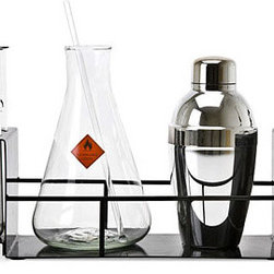 Cocktail Chemistry Set - Who says geeks can't have style? I love this bar set for the novelty. However, it's one novelty set that actually looks good, rather than ridiculous. I think it would be fun to serve martinis from this set.