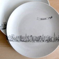 Contemporary Salad And Dessert Plates by Bespoke Custom Gifts