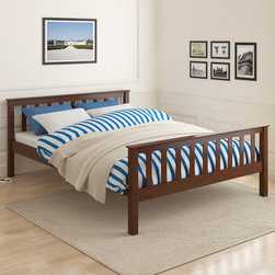 CorLiving - CorLiving Monterey Espresso Solid Wood Queen Bed - Enhance any sleeping space with this sleek queen bed from CorLiving. The rich espresso stained solid wood bed with simple multi-rail styling will provide the perfect spot to curl-up.