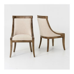 Four Hands - Florence Dining Chair - Bespoke Natural - The contemporary Metro Collection features a bold, European-inspired style. This collection adds a new dimension to modern luxury.