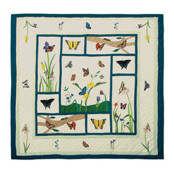 Patch Quilts - Butterfly Kisses Quilt Queen 85 x 95 - - Intricately appliqued and beautifully hand quilted.Bedding ensemble from Patch Magic  - The Name for the finest quality quilts and accessories  - Machine washable.Line or Flat dry only Patch Quilts - QQBKSS