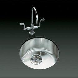 KOHLER - KOHLER K-3341-NA Undertone/Lyric Undercounter/Self-Rimming Kitchen Sink - KOHLER K-3341-NA Undertone/Lyric Undercounter/Self-Rimming Kitchen Sink with Circular Basin