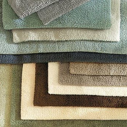 """PB Classic Bath Rug, Small, 17 x 24"""", Blue Haze - Our signature PB Classic Bath Rugs are the softest and plushiest you'll find. Small: 17 x 24""""Medium: 21 x 34""""Large: 27 x 45""""Made of absorbent cotton that's looped on one side, sheared on the other. Machine wash.ImportedSelect items are Catalog / Internet Only."""