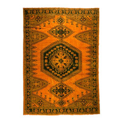 West of Hudson - Over-Dyed Burnt Orange Imported Persian Vintage Rug, 9.8x13.3 Ft. - Handknotted one of a kind over-dyed rug with vibrant colors. West of Hudson is proud to offer authentic vintage and new hand knotted rugs that that are carefully selected for our exclusive overdye collection. Each rug is a unique work of art. 100% handmade from start to finish.