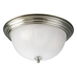 "Progress Lighting - Progress Lighting P3818-EB 15-1/4"" Three Light Flush Mount Ceiling Fixture - Features:"