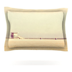 "Kess InHouse - Myan Soffia ""Toffee - Marshmallow"" Sandy Beach Pillow Sham (Woven, 40"" x 20"") - Pairing your already chic duvet cover with playful pillow shams is the perfect way to tie your bedroom together. There are endless possibilities to feed your artistic palette with these imaginative pillow shams. It will looks so elegant you won't want ruin the masterpiece you have created when you go to bed. Not only are these pillow shams nice to look at they are also made from a high quality cotton blend. They are so soft that they will elevate your sleep up to level that is beyond Cloud 9. We always print our goods with the highest quality printing process in order to maintain the integrity of the art that you are adeptly displaying. This means that you won't have to worry about your art fading or your sham loosing it's freshness."