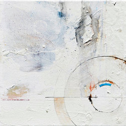"""Machine, Small Original Abstract White Modern Art Painting by Nyc Artist (Origin - Here's an idea: NYC rat olympics. The first challenge is wrangling them, although I'm sure they'll come along if you ask nicely (ask a homeless man/street prophet because they speak rat). Possible events can include: """"the bite and toss,"""" """"the 10 yard scamper on subway tracks,"""" and the ever-popular """"eat your trash."""""""