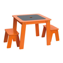 Chalk Table - No questions required with this table — just write the answer on the chalkboard top.