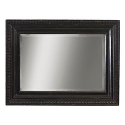 Lexington - Tommy Bahama Home Kingstown Fairpoint Mirror - The Fairpoint Mirror is a great focal point for any wall with its prominently shaped molding and detailing.  A rich black Tamarind finish and a deep tray design guide the eye to the center, bordered with an egg-and-dart pattern.  It is perfect to hang individually on a wall or above the complementary Stony Point Triple Dresser.
